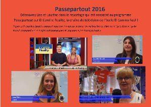 Passepartout 2016- Lise et Laurine interviewées par El Camino Reality