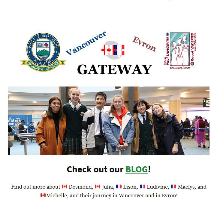 Les participants au programme GATEWAY ont leur Blog